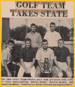 Lincoln High School Nebraska State Golf Champions 1964